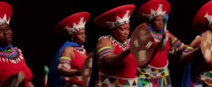 Groupe de danse et musique sud-africain