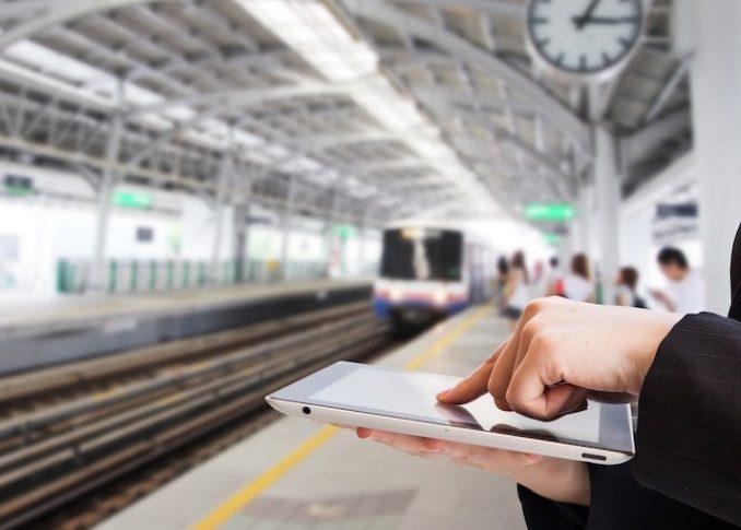 Trains équipés en wifi