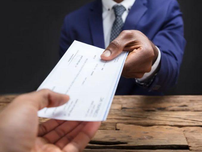Remise de chèque de banque